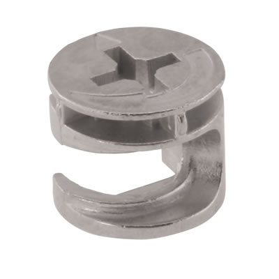 Rimless Cam Connector - Min Panel Thickness 12mm - Zinc Plated - Pack 50)