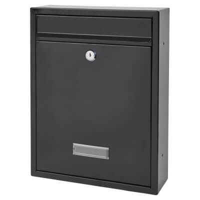 Trent Mailbox - 260 x 340 x 88mm - Black)