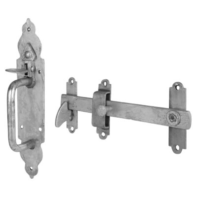 Gothic Thumb Latch - Galvanised