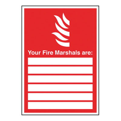 Your Fire Marshalls Are: - 148 x 210mm