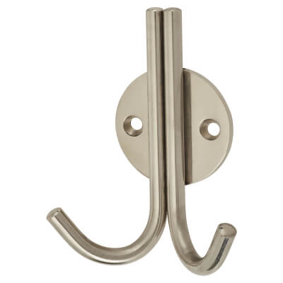 Altro Double Coat Hook - 100mm - Polished Stainless Steel