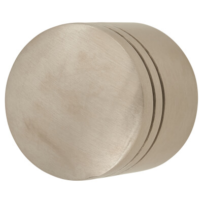 Altro Turned Lined Cabinet Knob - 30mm - 304 Satin Stainless Steel