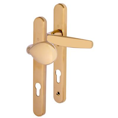 Hoppe Atlanta Multipoint Handle - uPVC/Timber - 92mm centres - 70mm door thickness - Lever/Pad - Po