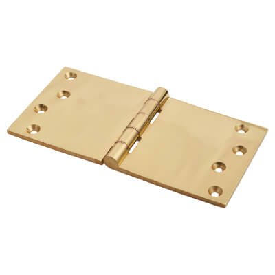 Jedo Quality Projection Hinge - 102 x 200 x 4mm - Polished Brass - Pair)
