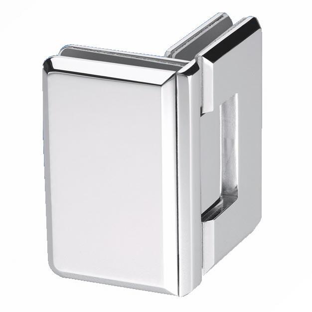 Glass to Glass Shower Hinge - 90° - 10mm Glass