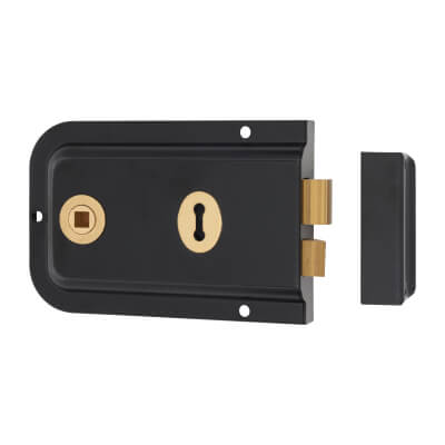 UNION® 1445 Pressed Rim Lock - Black)