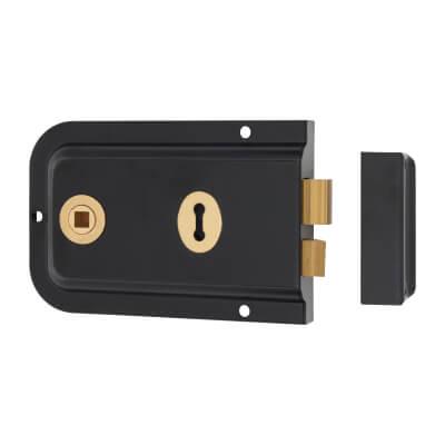 UNION® 1445 Pressed Rim Lock - Black)