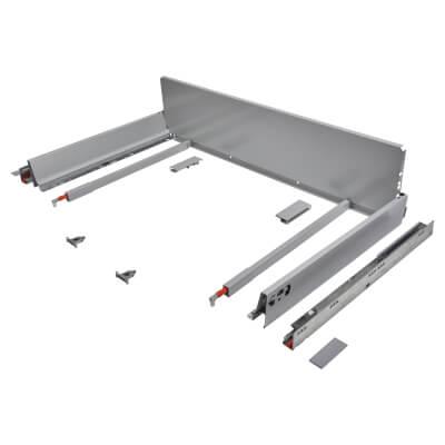 Blum TANDEMBOX ANTARO Pan Drawer - BLUMOTION Soft Close - (H) 203mm x (D) 500mm x (W) 900mm - Grey