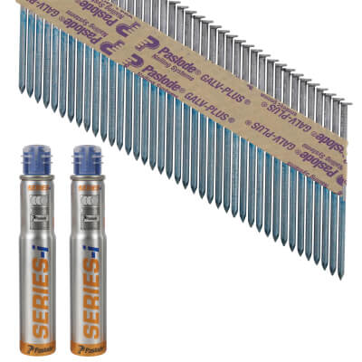 Paslode IM90I Nail - First Fix - 90 x 3.1mm - Bright Steel - Pack 2200