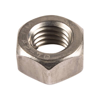 Hex Full Nuts - M6 - A2 Stainless Steel - Pack 100
