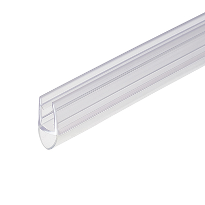 Croydex Clear PVC Shower Seal - Bubble Seal - Suits 4-6mm Glass)