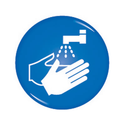 Domed Office Sign - Wash Your Hands - 60mm