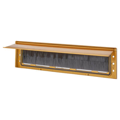 Brush Seal Internal Letter Tidy Flap - 293 x 77mm - Gold)