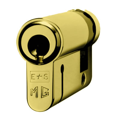 Eurospec MP15 - Euro Single Cylinder - 35 + 10mm - Polished Brass  - Keyed to Differ