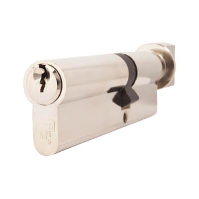 5 Pin Cylinder - Euro Thumbturn - Length 100mm - 40[k] + 60mm - Nickel