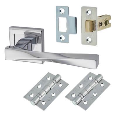 Morello Spirit Door Handle - Door Kit - Polished Chrome