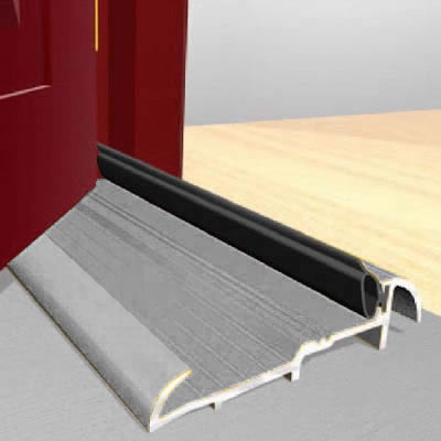 Exitex Threshold Strips - 914mm - Outward Opening Doors - Mill Aluminium