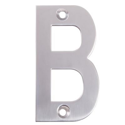 Altro 75mm Letter - B - Satin Stainless Steel