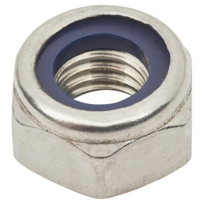 TIMco Nylon Insert Hex Nut - Type T - M8 - A2 Stainless Steel - Pack 10