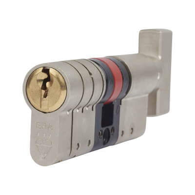 ERA 3 Star Fortress Cylinder - Euro Thumbturn - Length 70mm - 35[k]* + 35mm - Nickel and Brass