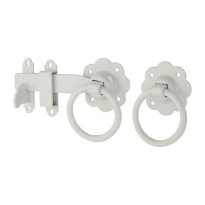 Ring Gate Latch - 152mm - White