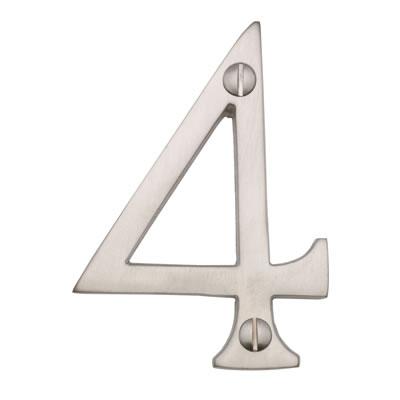 M Marcus 76mm Numeral - 4 - Satin Nickel