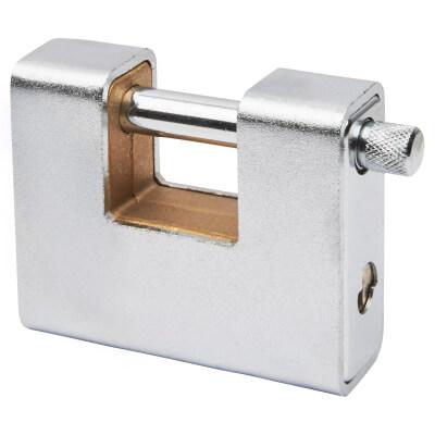 Armoured Shutter Lock - 80mm - Keyed Alike Key 1