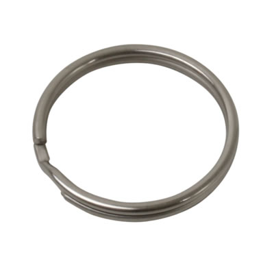 Key Ring Split Ring - 38mm - Nickel Plated - Pack 50