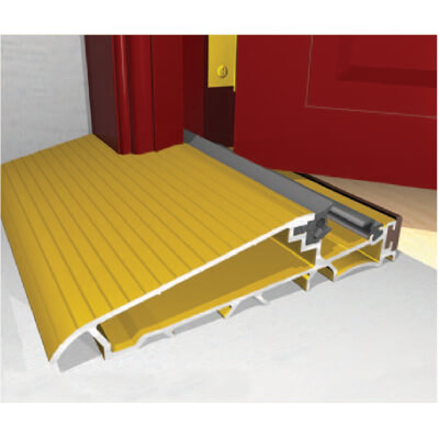 Exitex Mobility Threshold with Long Ramp - 2000mm - Inward Opening Doors - Gold