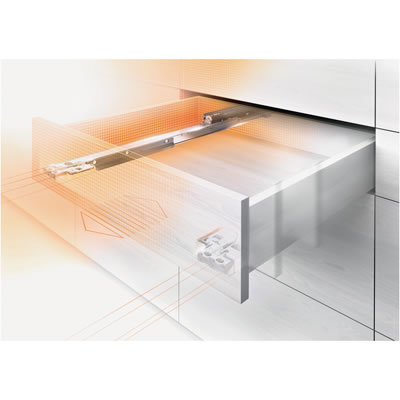 Blum Movento Drawer Runner -  BLUMOTION (Soft Close) - Double Extension - 40kg - 550mm