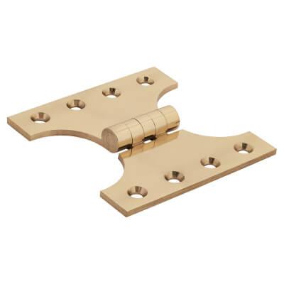 Jedo Heavy Parliament Hinge - 102 x 50 x 102mm - Polished Brass - Pair