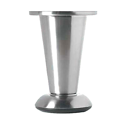 Designer Straight Round Furniture Leg - 103-113mm - Brushed Nickel