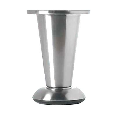 Designer Straight Round Furniture Leg - 103-113mm - Brushed Nickel