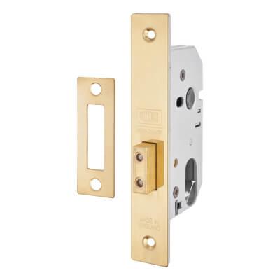 UNION® Oval 2141 Deadlock - 65mm Case - 44.5mm Backset - Polished Brass