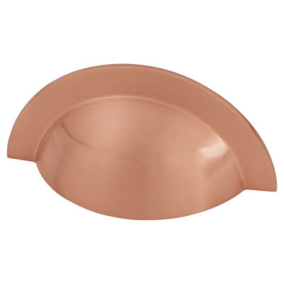 Crofts & Assinder Monmouth Cabinet Cup Handle - 64mm Centres - Brushed Copper