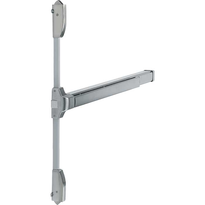 Arrone® Single Door 3 Point Touchbar Panic Bolt - Satin Stainless Silver