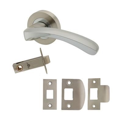 Excel Ventura Door Handle - Privacy Set - Satin Nickel/Polished Chrome