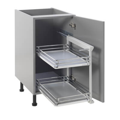 Base Pull Out Plus with Soft Close - Right Hand - Cabinet Width 400mm