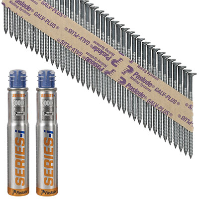 Paslode IM90I Nail - First Fix - 63 x 3.1mm - Galv Plus - Pack 2500)