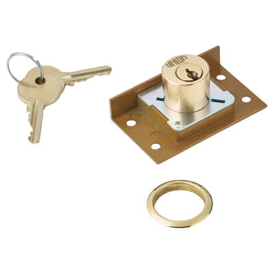 UNION® 4138/7 Cylinder Cut Cupboard/Drawer Lock - 63.5 x 38mm - Deadbolt
