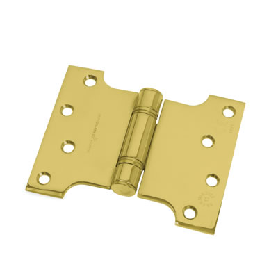 Enduro Max Parliament Hinge - 102 x 75 x 127 x 3.5mm - PVD Brass - Pair)