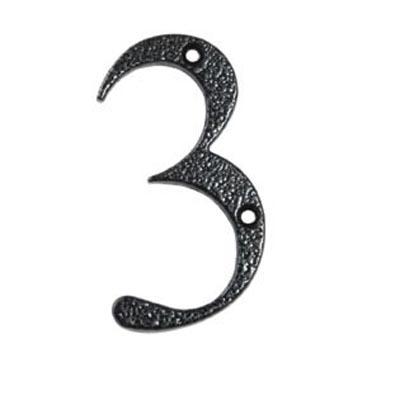 76mm Numeral - 3 - Antique Black Iron