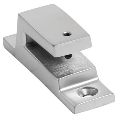 Hampstead Long Locking Keep - Soft Satin Chrome
