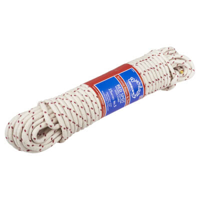 Everlasto No.5 Red Spot Waxed Sash Cord - 8mm - 25M Knot)