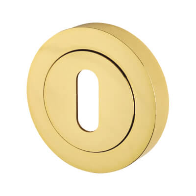 Touchpoint Escutcheon - Keyhole - Polished Brass
