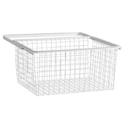elfa® Basket and Frame - 610 x 440 x 285mm - White