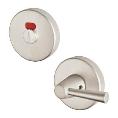 Project Puma Bathroom Turn & Release - Extended Turn - Satin Aluminium