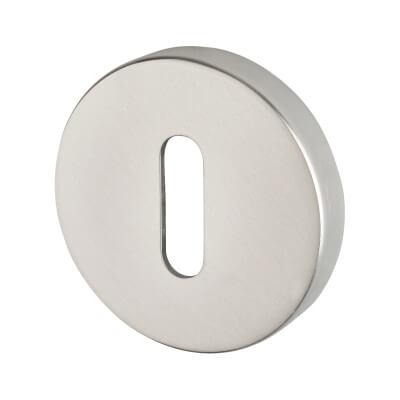 Altro Plus Escutcheon - Keyhole - Satin Aluminium