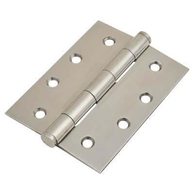 Pressed Butt Hinge - 102 x 76 x 2mm - Polished Stainless Steel)
