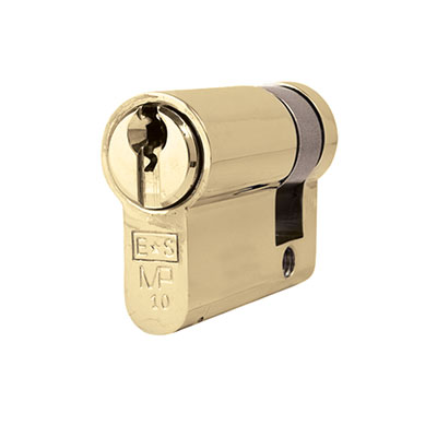Eurospec MP10 - Euro Single Cylinder - 32 + 10mm - Polished Brass  - Keyed to Differ